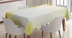 Yağlı Boya Tablosu Etkili Masa Örtüsü Yeşil Lale