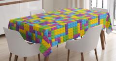 Çocuklar için Masa Örtüsü Rengarenk Legolar Oyun