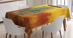 Nostaljik Masa Örtüsü Bohem Eski Moda Sarı Pencere