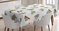 Çocuklar İçin Masa Örtüsü Koala Desenleri Gri