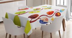 Çocuklar için Masa Örtüsü Rengarenk Büyülü Ağaç