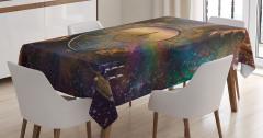 Sonsuzluk Temalı Masa Örtüsü Evrende Yolculuk Uzay