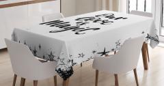 İlham Verici Masa Örtüsü Romantik Aşk Siyah Beyaz
