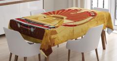 Klasik Araba Temalı Masa Örtüsü Nostaljik Tasarım