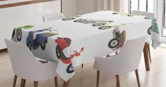 Nostaljik Masa Örtüsü Motosiklet Koleksiyonu Temalı