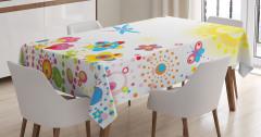 Çocuklar için Masa Örtüsü Yusufçuk Güneş Çiçekler