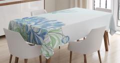 Su Zambakları Desenli Masa Örtüsü Yusufçuk Çiçekler
