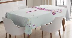 Yusufçuk Deseni Masa Örtüsü Şık Tasarım Modern Sanat