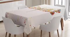Renkli Kelebek Desenli Masa Örtüsü Sanatsal Yusufçuk