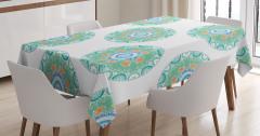 Çocuklar için Masa Örtüsü Rengarenk Mandala Yeşil