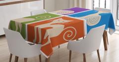 Çocuklar için Masa Örtüsü Sevimli Kedi Rengarenk