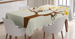 Çocuklar için Masa Örtüsü Kahverengi Ağaç Maymun