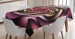 Mor Pembe Girdap Çiçek Desenli Masa Örtüsü Dekoratif
