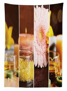 Spa Temalı Masa Örtüsü Aromatik Terapi Pembe Çiçek
