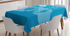 Çocuklar İçin Masa Örtüsü Peri Masalı Temalı Mavi