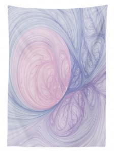 Modern Girdap Desenli Masa Örtüsü Mavi Pembe ve Mor