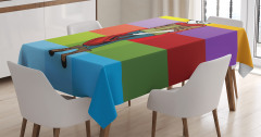 Rengarenk Masa Örtüsü Moda Trend Sarı Mor Yeşil Mavi