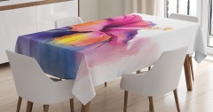 Çiçek Desenli Masa Örtüsü Pastel Bahar Şık Tasarım