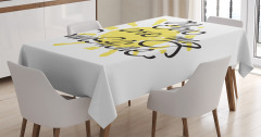 Sevgililer Günü İçin Masa Örtüsü Sarı Romantik Şık