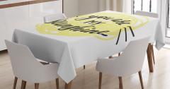 Aşk Temalı Masa Örtüsü Sevgililer Günü İçin Şık