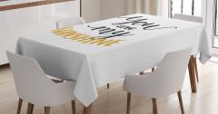 Sevgililer Günü İçin Masa Örtüsü Sarı Siyah Beyaz