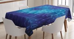 Lacivert Masa Örtüsü Yağmur Damlacıklı Şık Tasarım