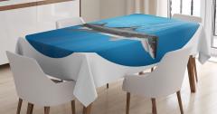 Köpek Balığı Desenli Masa Örtüsü Sualtı Avcısı Mavi