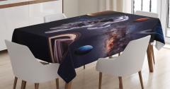 Gezegenler Temalı Masa Örtüsü Lacivert Uzay Astronot