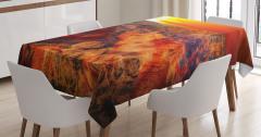 Büyük Kanyon Manzaralı Masa Örtüsü Turuncu Güneş