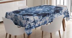 Lacivert Simetrik Desenli Masa Örtüsü Şık Tasarım
