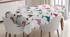 Rengarenk Yunus Desenleri Masa Örtüsü Şık Tasarım