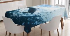 Okyanus Hayatı Temalı Masa Örtüsü Yunus Mavi