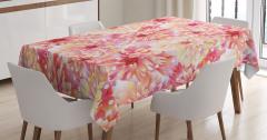 Bahar Temalı Masa Örtüsü Pembe Çiçekli Şık Tasarım