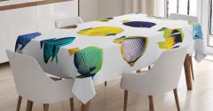 Rengarenk Balık Desenli Masa Örtüsü Şık Tasarım