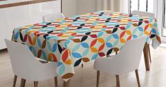 Geometrik Desenli Masa Örtüsü Rengarenk Daireler