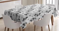 Yaprak Desenli Masa Örtüsü Gri Beyaz Şık Tasarım