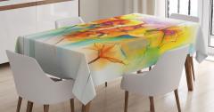 Rengarenk Masa Örtüsü Bahar Çiçekleri Buketi Temalı