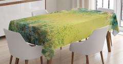 Nostaljik Çiçek Bahçesi Temalı Masa Örtüsü Pastel