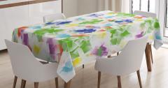 Geometrik Desenli Masa Örtüsü Şık Tasarım Yeşil
