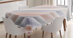 Şerit Desenli Masa Örtüsü Pembe Turuncu Mavi Şık