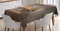 Antilop Temalı Masa Örtüsü Kahverengi Vahşi Doğa