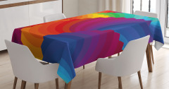 Renk Tekerleği Temalı Masa Örtüsü Rengarenk Şık