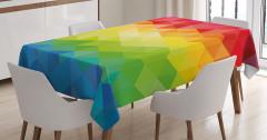 Rengarenk Üçgen Desenli Masa Örtüsü Şık Tasarım