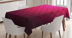 Geometrik Desenli Masa Örtüsü Dekoratif Kırmızı Şık
