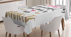 Aşk Temalı Masa Örtüsü Sevgililer Günü İçin Trend