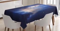 Yıldızlar ve Gökyüzü Temalı Masa Örtüsü Uzay Şık