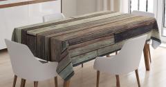 Ahşap Duvar Temalı Masa Örtüsü Kahverengi Trend