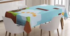 Bilgisayar Oyunu Temalı Masa Örtüsü Mavi Konsol