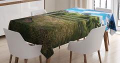 Fantastik Temalı Masa Örtüsü Hobbit Yeşil Trend