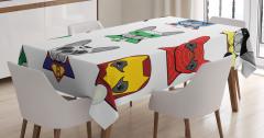 Köpek Temalı Masa Örtüsü Süper Kahraman Şık Tasarım